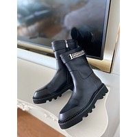 GIVENCHY2021 Trending Women's men Leather Side Zip Lace-up Ankle Boots Shoes High Boots08070gh