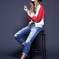 Free People  Colorblock Bomber Jacket at Free People Clothing Boutique
