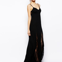 Lace and Mesh Strap Maxi Dress