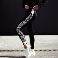 Letter Printed Sports Pants Gym Clothes Running Tights Women Sports Leggings Fitness Yoga Pants For Women Plus Size