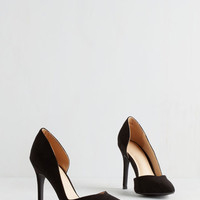 ModCloth Minimal Chic My Language Heel in Black