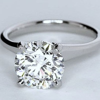 2.00ct G-VVS2 Round Diamond Engagement Ring  Wedding Gift EGL certified Annivesary Bridal Jewelry