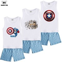 DMDM PIG Baby Clothes Children's Sports Suits Kids Boys Clothes Sets Girls Summer Clothes For Boys Toddler Girl Clothing Sets