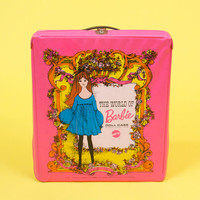 Vintage 60s Hot Pink The World of Barbie Doll Case by Mattel