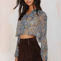 After Party Vintage Avery Sheer Crop Top