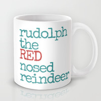 Rudolph the red nosed reindeer Mug by Sylvia Cook Photography