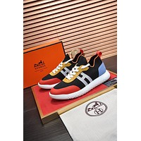 HERMES  Men Fashion Boots fashionable Casual leather Breathable Sneakers Running Shoes 0509dp