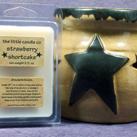 Soy Wax Melt // Strawberry Shortcake // Highly Scented Soy Wax Tart // Mother's Day Gift // Primitive Home Decor