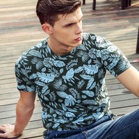 Men's Fashion Summer Short Sleeve Cotton T-shirts [6541362883]