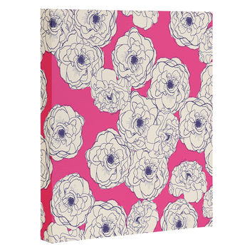 Joy Laforme Floral Sophistication In Pink Art Canvas