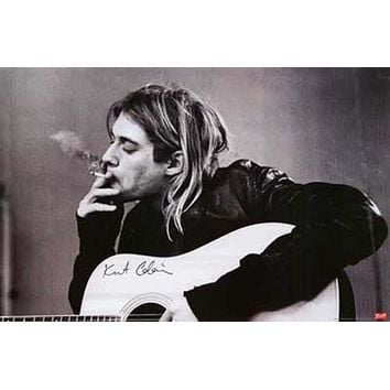 Nirvana Kurt Cobain Smoke Break Poster 24x36