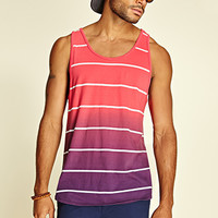 Striped Ombre Tank Top Tomato/Purple
