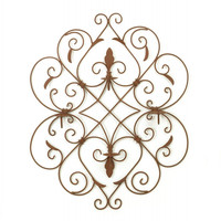 Four Candle Iron Fleur De Lis Wall Sconce