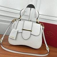 prada women leather shoulder bags satchel tote bag handbag shopping leather tote crossbody 323