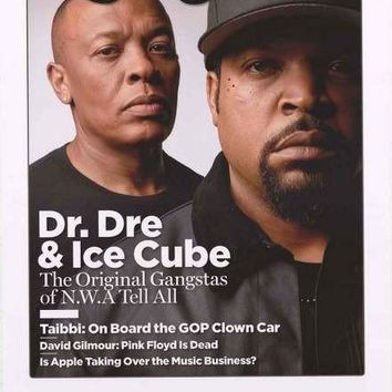 Dr Dre Ice Cube Rolling Stone Poster 22x34