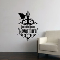 Wall Decal The Raven Nevermore Removable Vinyl Wall Decal 22203