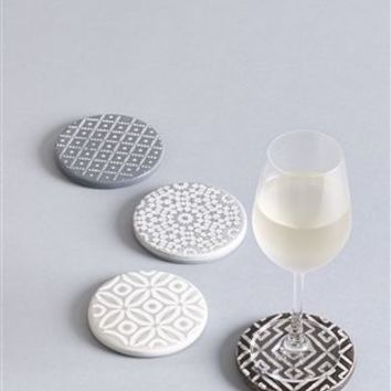Buy Set Of 4 Geo Design Ceramic Coasters from the Next UK online shop