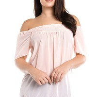 Women's Plus Size Off Shoulder Tassel Top