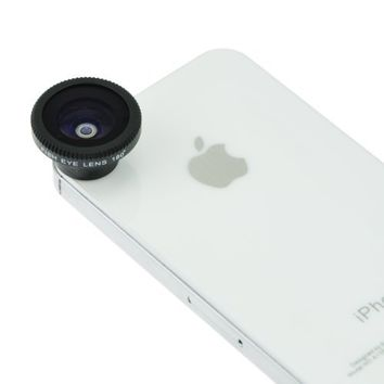EarlyBirdSavings Black Magnetic 180Fish Eye Lens For Iphone 4 4S Iphone 5 5G 6th Cell Phone