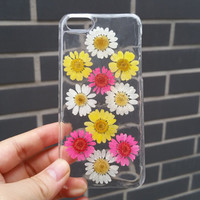 Pressed Flower Phone Case, iPhone 6 Case, iPhone 5 Case, iPhone 5c Case, iPhone 5s Case, iPhone 6 Plus Case, Clear iPhone Case, Real Flower