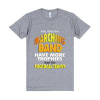 why does the marching band have more trophies than the football team?