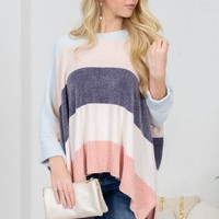 Baby Pastel Chenille Block Sweater
