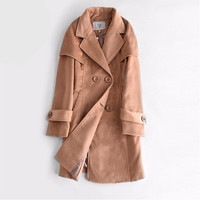 Fashion Autumn Winter Women Fleeced Slim Long Sleeve Button Outerwear Jacket Coat a13154