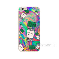 Phone Case For Apple iphone 5 5S SE 6 6S Plus Love Potion Chill Pills Transparent Plastic Back Cover For iphone 6S Fundas Shell