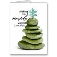 Wishing you a simply magical Christmas Greeting Card
