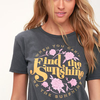 Find the Sunshine Charcoal Grey Tee