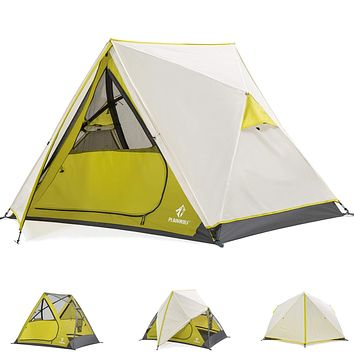 Tents for Camping, Easy Setup 2 Person Family Cabin Tent Waterproof Portable Instant Tent Pop Up for Indoor Outdoor Hiking Mountaineering Traveling Green Fit 2 persons