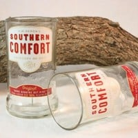 Drinking Glass from Upcycled Southern Comfort Liquor Bottle, Recycled Liquor Bottle, Glass Tumbler