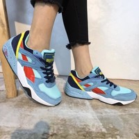 Puma R698 Block Unisex Casual Retro Multicolor Running Shoes Couple Fashion Thick Bottom Sneakers