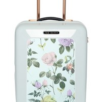 Ted Baker London 'Small Rose' Hard Shell Suitcase - White (22 Inch)