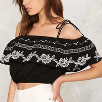 Santiago Embroidered Crop Top