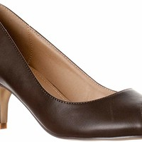 Women's Lydia Open, Peep Toe Kitten Heel Pumps