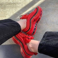 Nike Air Max 97 Leopard Stripes Red Sneakers-7