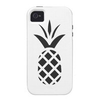 Black Pine Apple Vibe iPhone 4 Cover