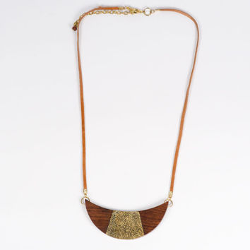 Earth & Fire Crescent Necklace - India
