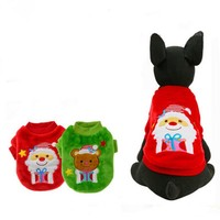 Christmas Classic Warm Dog Clothes Puppy Outfit Pet Cat Jacket Coat Winter Soft Sweater Clothing For Small Dogs Costume XXS-L