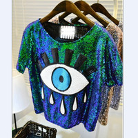 Zoe Sexy Sequined Crop Top Shirt