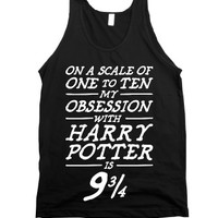 Harry Potter Obsession-Unisex Black Tank