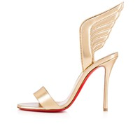 Samotresse 100 Light Gold Leather - Women Shoes - Christian Louboutin