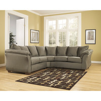 Darcy Sectional in Sage Fabric
