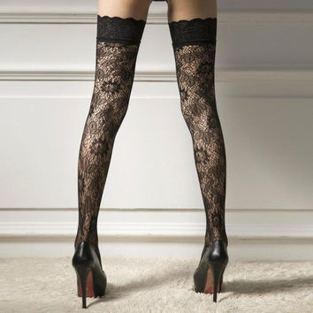 Lace Thigh High Stockings Lingerie Sexy Women Over The Knee Stockings Sexy Thigh High Stockings Calcetines Mujer Largos3121 SM6