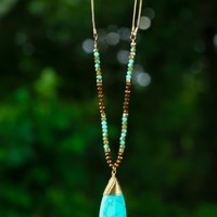 Narrow Lane Necklace-Turquoise
