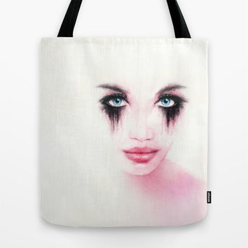 MonGhost XII - TheWarriorGirl Tote Bag by LilaVert