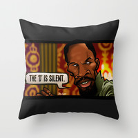The D is Silent (Django) Throw Pillow by BinaryGod.com