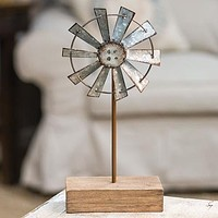 """Windmill Finial on Stand 10"""" High"""