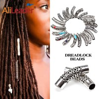 24 Styles Metal Tube Ring Dreadlock Beads For Braids Hair Beads For Dreadlocks Adjustable Hair Braid Free Sshipping